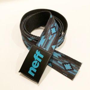 NEFF Mens Aztec Blue Web Belt Bottle Opener OS